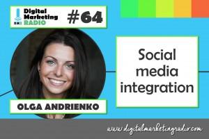 Social media integration - OLGA ANDRIENKO