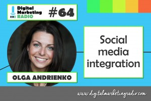 Social media integration - OLGA ANDRIENKO